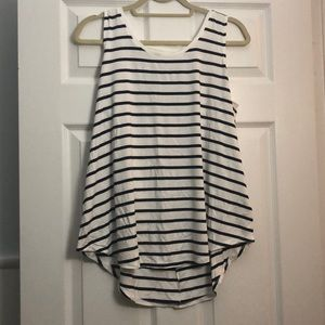 GUC Old Navy Navy/White striped luxe tank